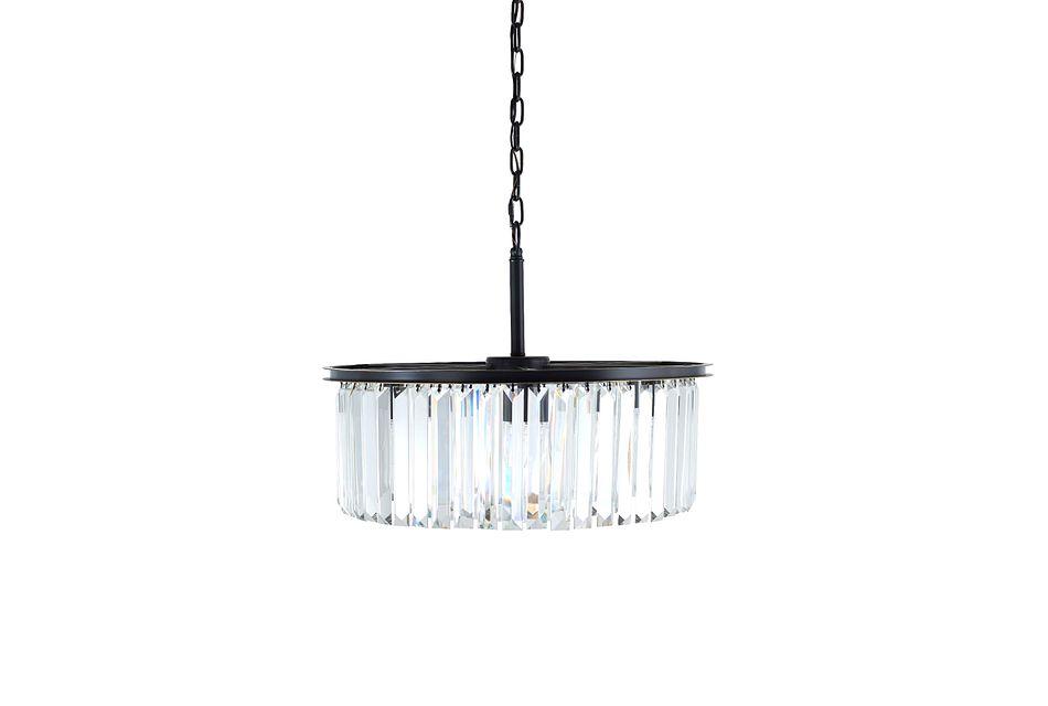 Meghan Black Glass Chandelier,  (1)