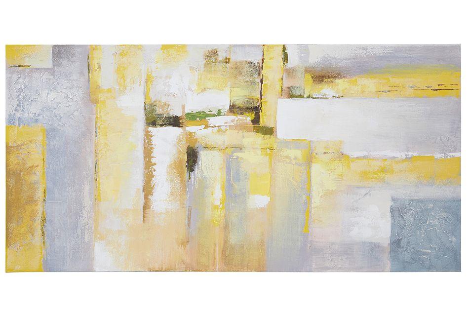 Gloaming Yellow Framed Canvas Wall Art