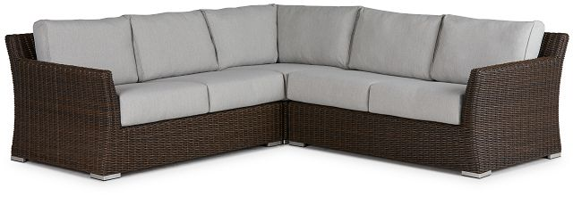 Southport Gray Woven Small Two-arm Sectional (0)