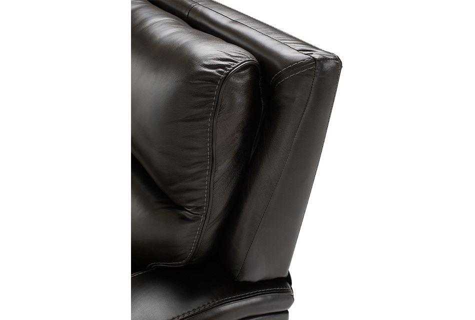 Declan Dark Brown Lthr/vinyl Power Reclining Sofa