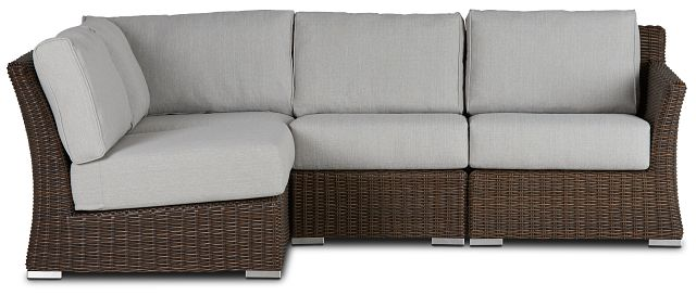 Southport Gray Right 4-piece Modular Sectional (1)
