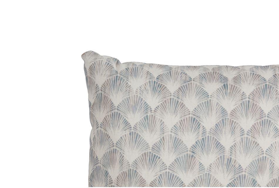 "Shell Green Fabric 20"" Accent Pillow"