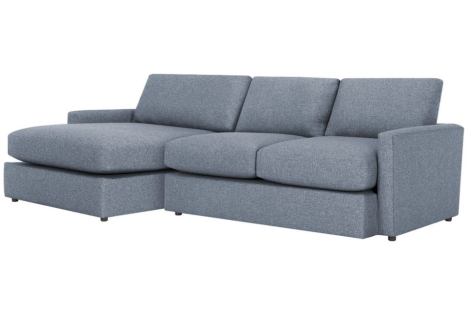 Noah Dark Gray Fabric Small Left Chaise Sectional
