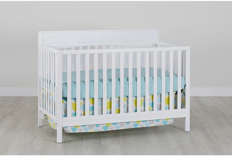 Parker White 4-In-1 Crib, %%bed_Size%% (0)