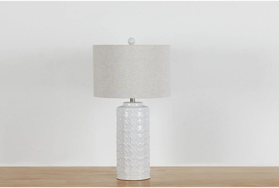 Marina White Table Lamp