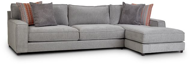 Taylor Gray Fabric Right Chaise Sectional (2)