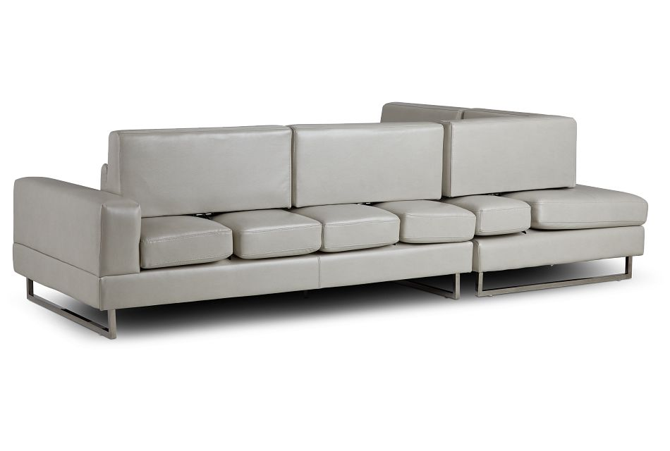 Alec Light Gray Micro Left Chaise Sectional