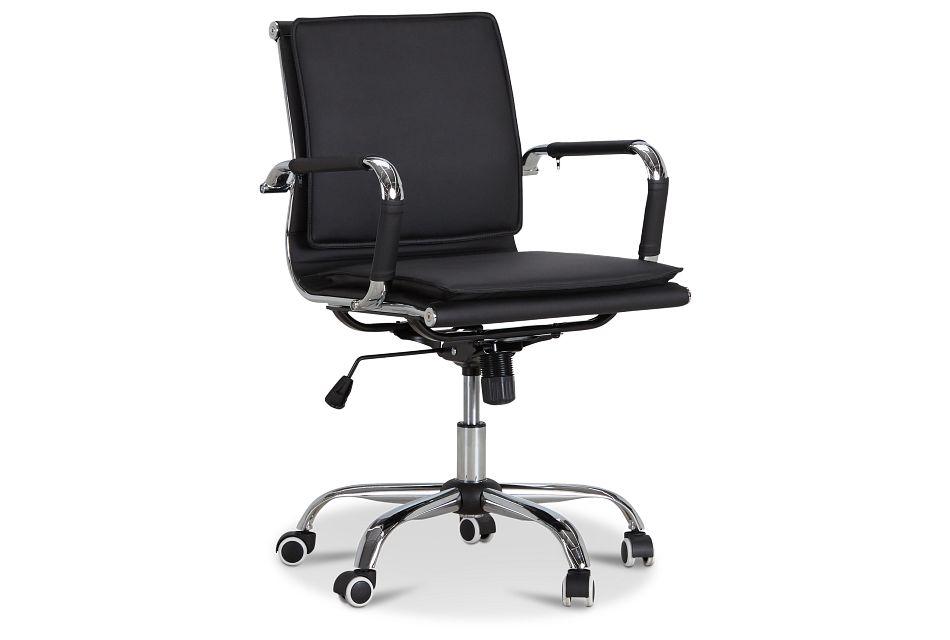 Denver Black Uph Desk Chair, %%bed_Size%% (1)