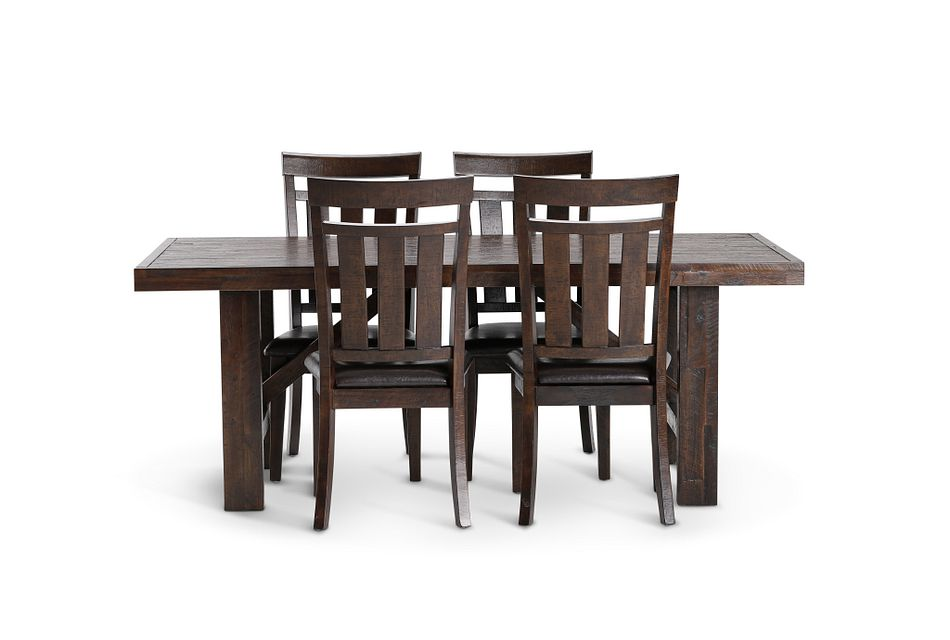 Kona Grove DARK TONE RECT Table & 4 Wood Chairs