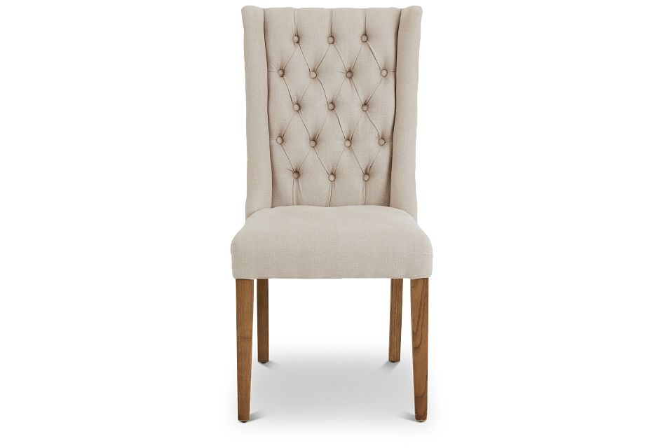 Camilla Beige Upholstered Side Chair,  (3)