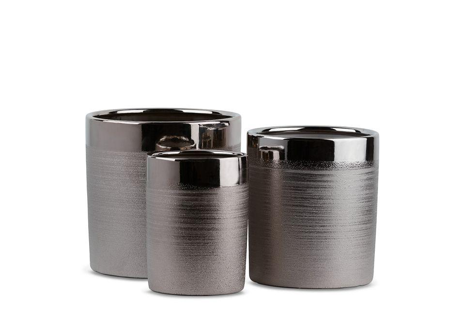 Bobo Silver Set Of 3 Planter