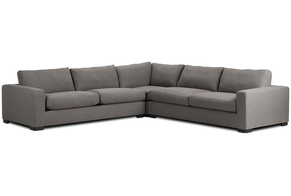 Bohan Dark Gray Fabric Large Two-arm Sectional