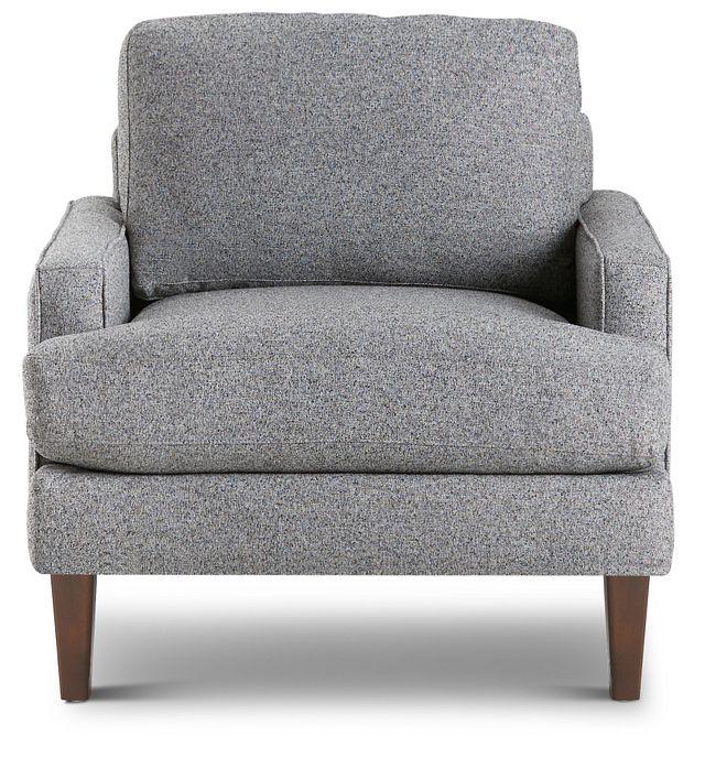 Morgan Dark Gray Fabric Chair With Wood Legs (3)