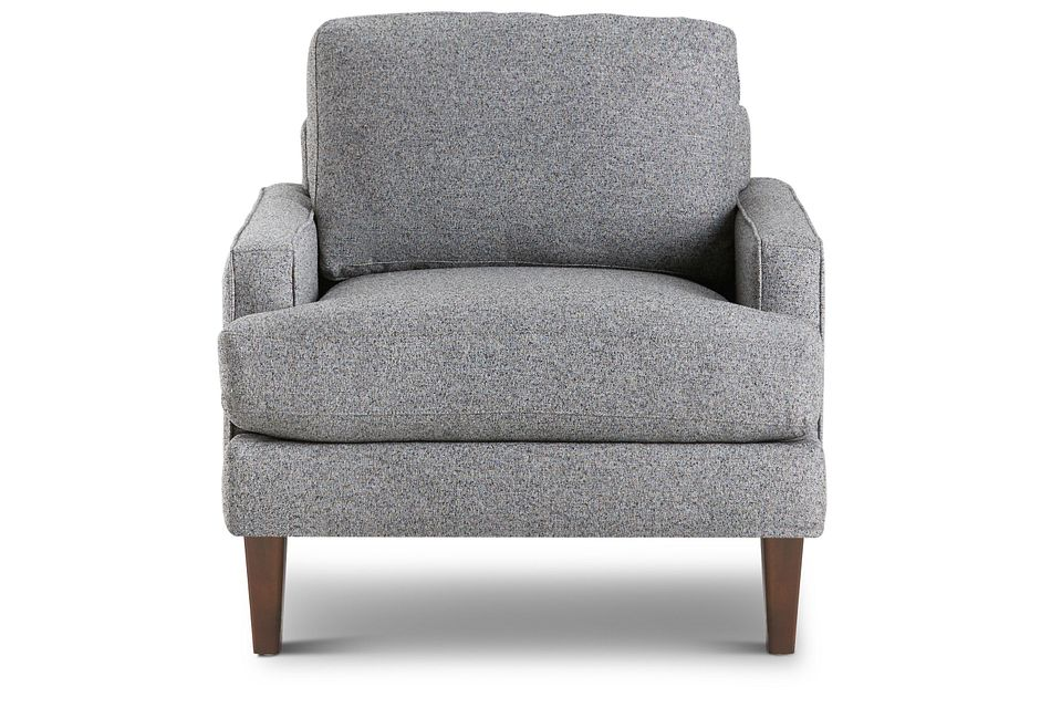 Morgan Dark Gray Fabric Chair With Wood Legs