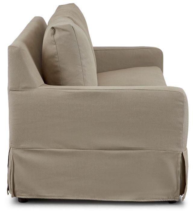 Bree Khaki Fabric Innerspring Sleeper (3)