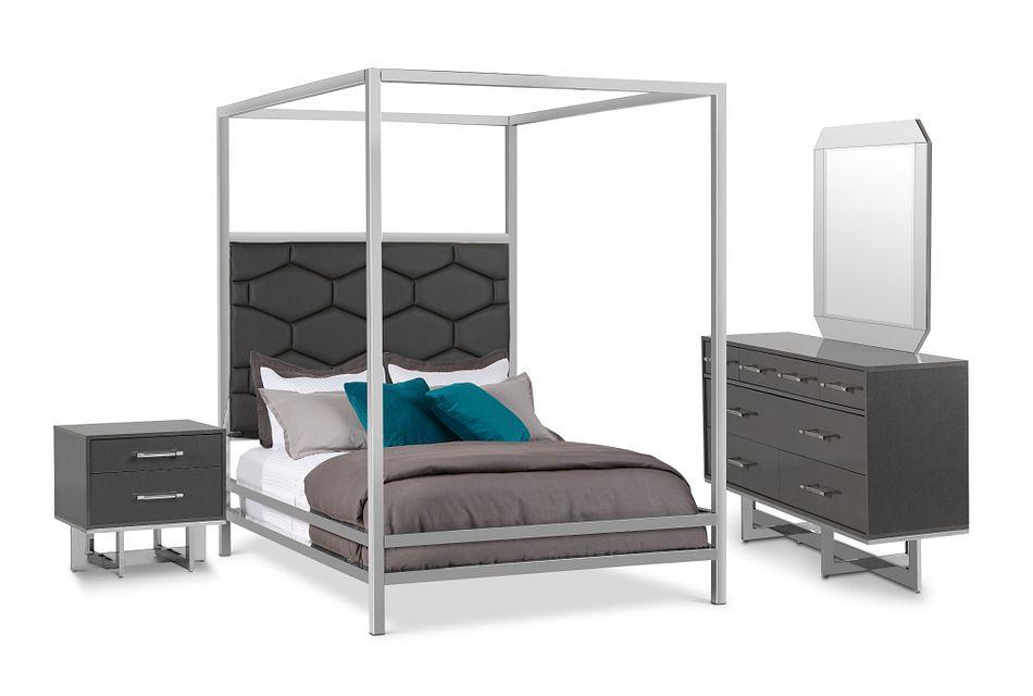 Cortina Gray Canopy Bedroom