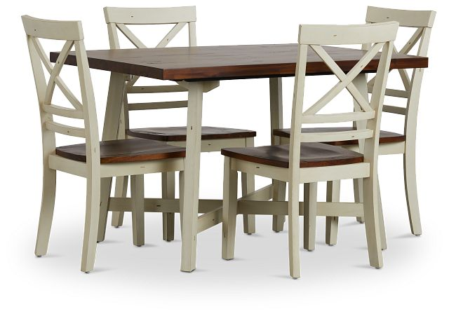 Amelia Two-tone Rect Table & 4 Chairs (1)