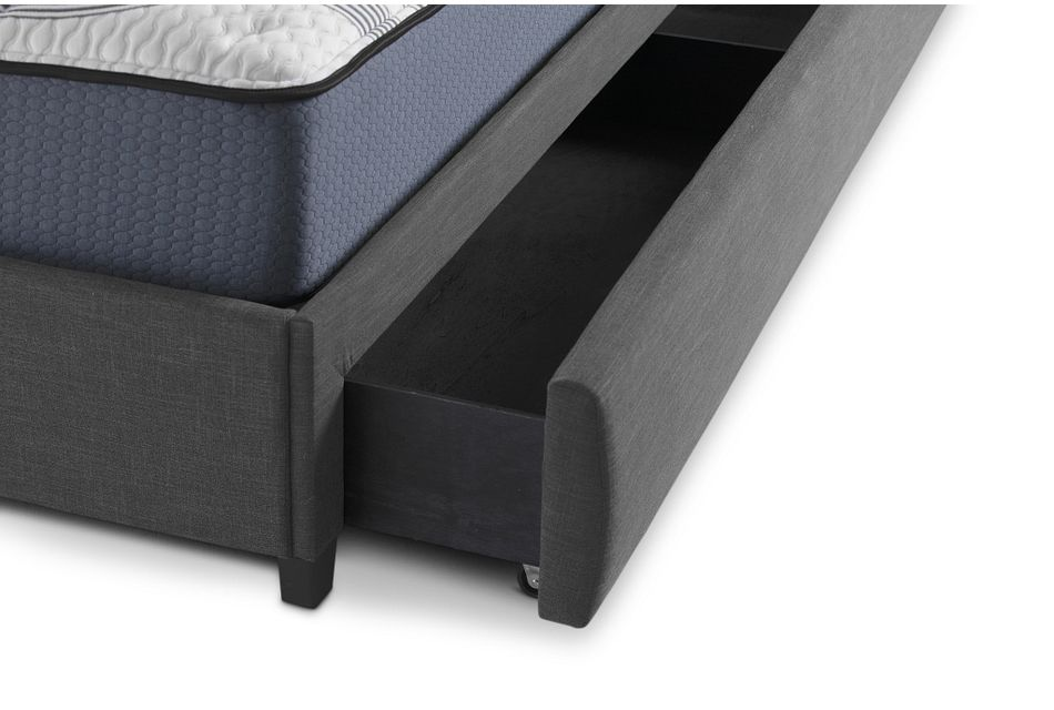 Chatham Dark Gray  Uph Panel Storage Bed