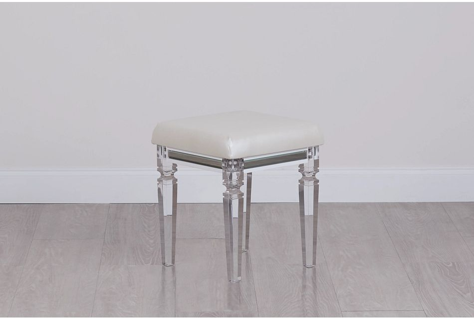 Vegas White Stool