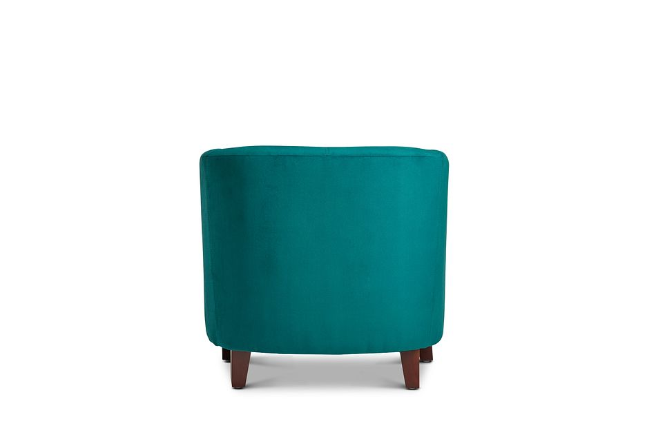 Concord Teal Velvet Accent Chair