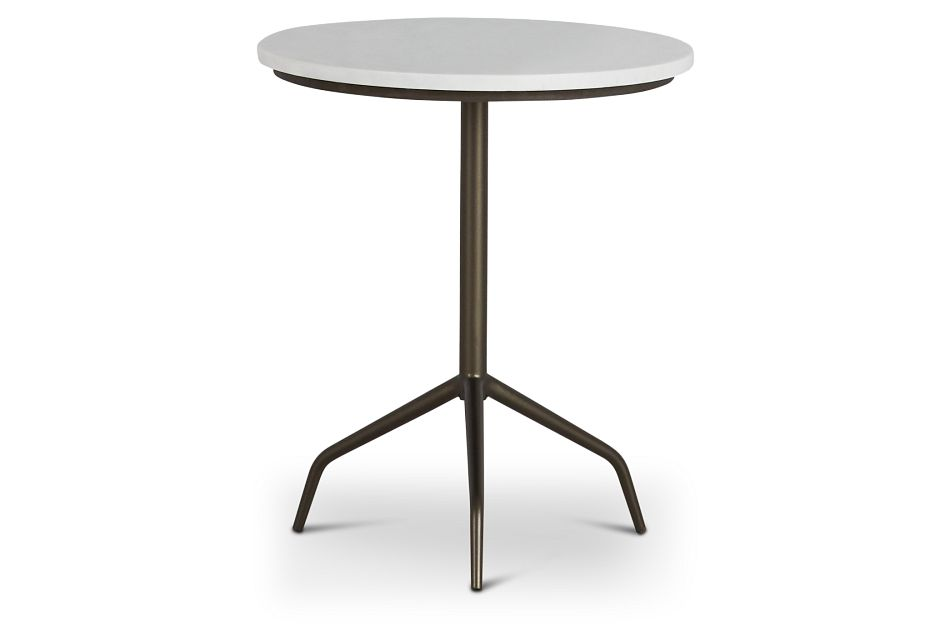 Ella White Marble Accent Table