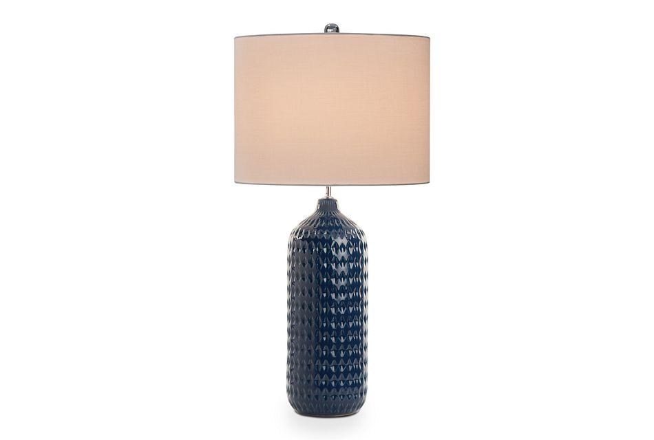 Dallas Dark Blue Table Lamp