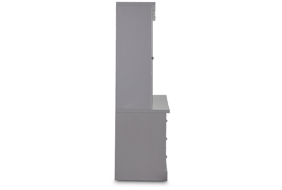 Newport Gray Drawer Bookcase Wall,  (3)