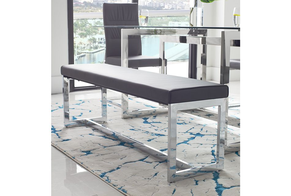 Bronx Gray Dining Bench