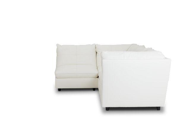 Hudson White Micro 4-piece Modular Sectional (2)