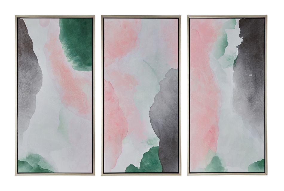 Cloud Pink Set Of 3 Framed Wall Art