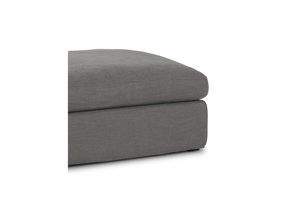 Willow Gray Fabric Ottoman
