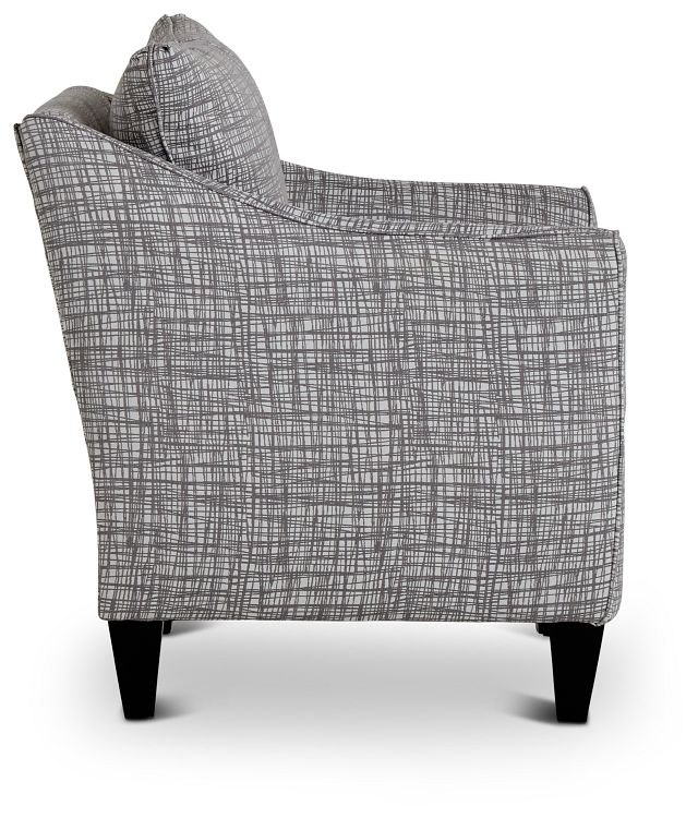 Hugo Gray Fabric Accent Chair (2)