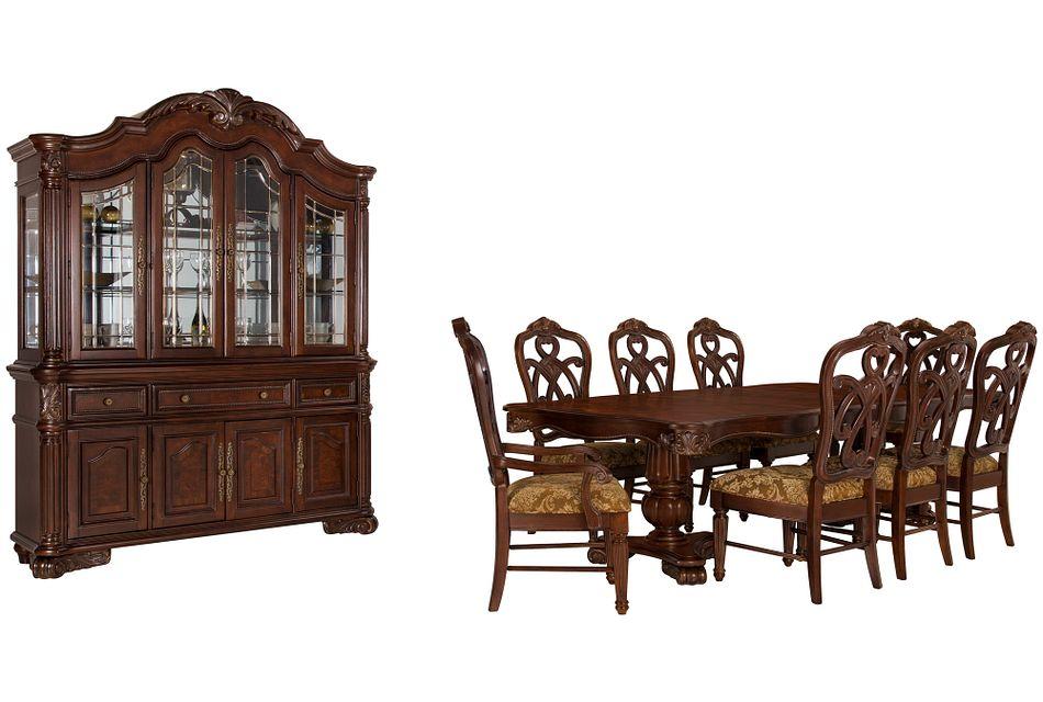 Regal Dark Tone Rect Dining Room