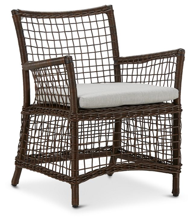 Southport Gray Woven Arm Chair (0)