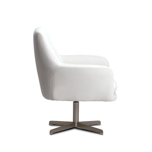 Xander Pewter Velvet Swivel Accent Chair (2)