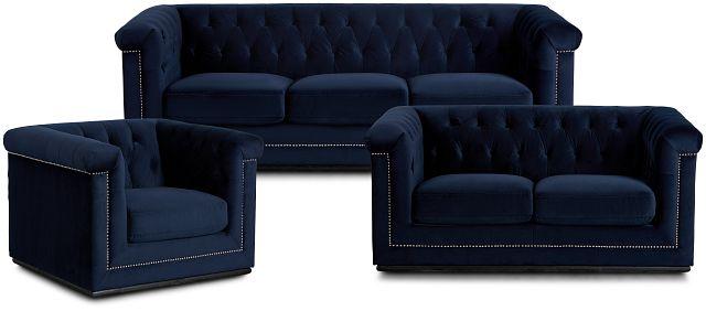 Blair Dark Blue Living Room (3)