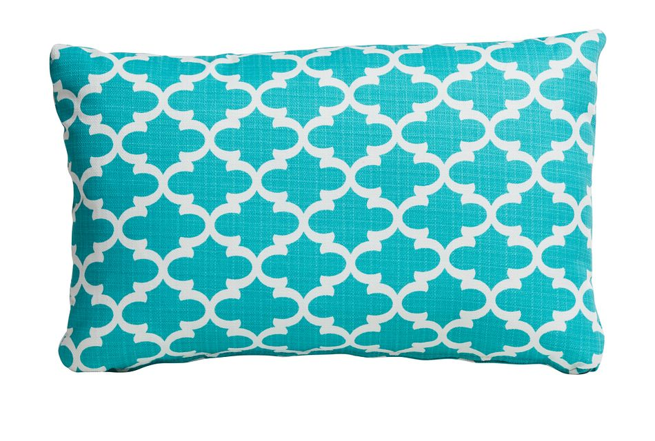 Fulton Blue Lumbar Indoor/outdoor Accent Pillow