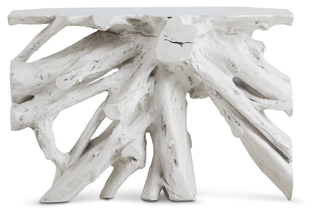 Ocean Drive White Wood Console Table