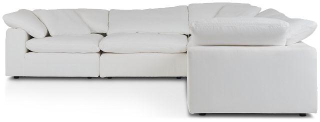 Nixon White Fabric 5-piece Modular Sectional (2)
