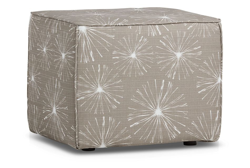 Sparks Gray Indoor/outdoor Accent Ottoman