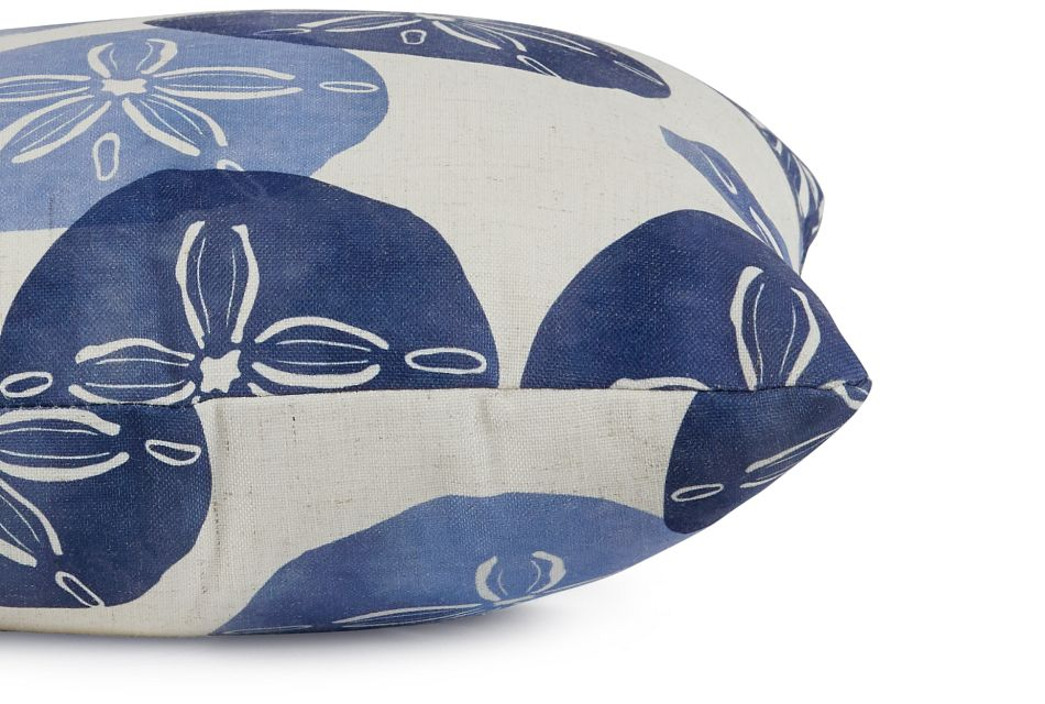"Sand Dollar Blue Fabric 18"" Accent Pillow,  (2)"