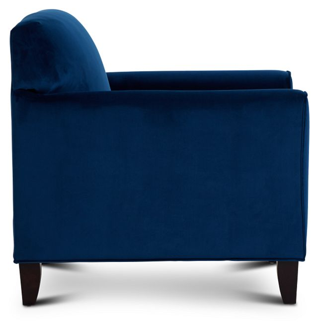 Royale Blue Fabric Accent Chair (2)