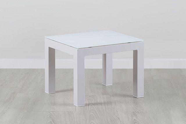 Lisbon3 White End Table (0)