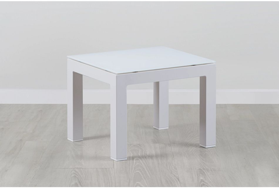Lisbon3 White End Table