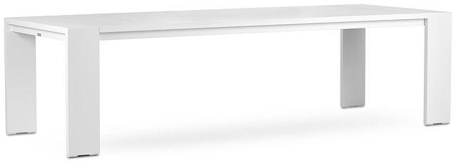 """Linear White 110"""" Rectangular Table (2)"""