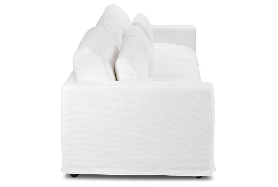 Cozumel White Fabric 3 Piece Modular Sofa