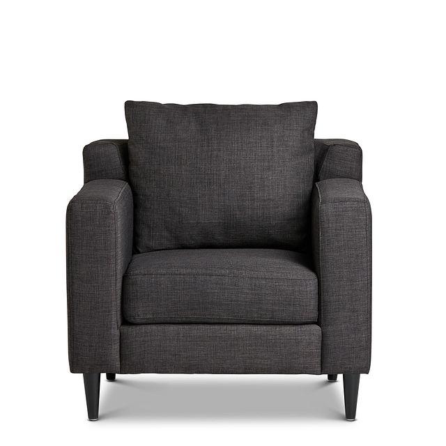 Novara Dark Gray Fabric Accent Chair (2)