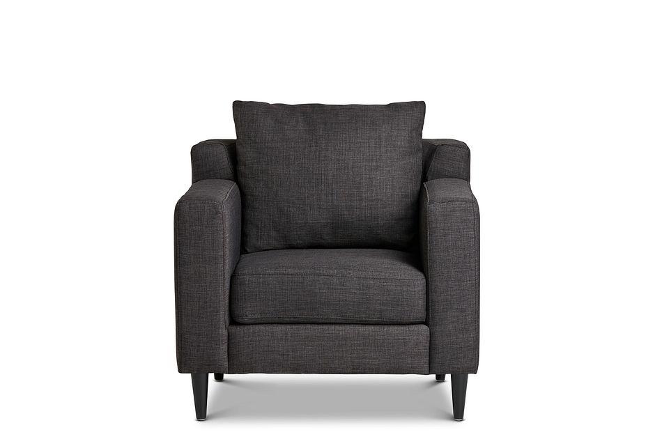 Novara Dark Gray Fabric Accent Chair