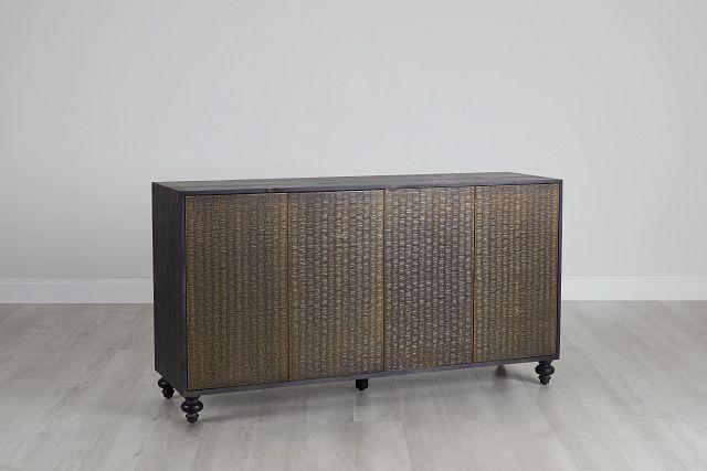 Makari Metal Four-door Cabinet (0)