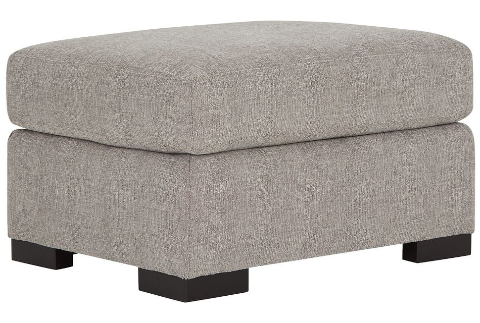 Germaine Gray Fabric Ottoman